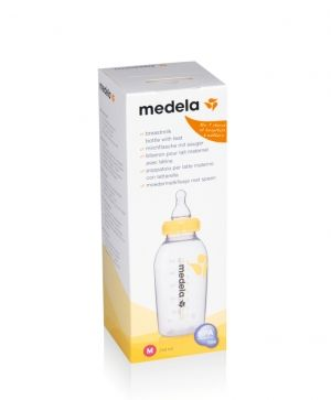 Шише с биберон M (medium flow)  Medela, 250мл