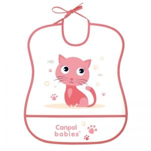 "Лигавник с подложка Canpol babies, ""Happy Animals"", розов"